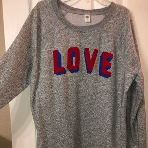"OLD NAVY ""LOVE"" Crewneck"